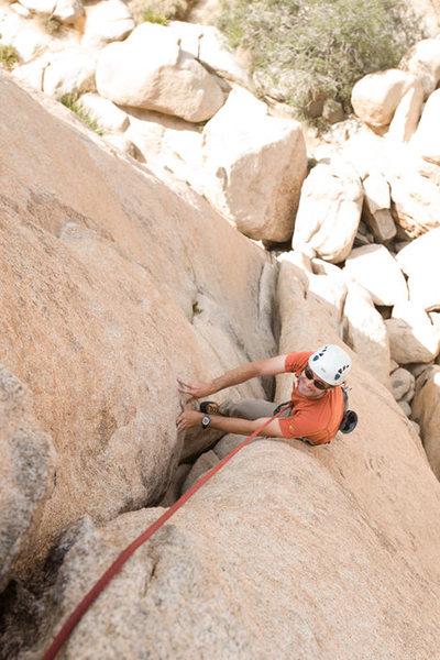 Rock Climbing Photo: Romain Wacziarg near the crux of Deflowered, in St...