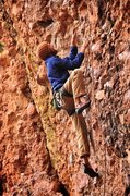 Rock Climbing Photo: Grant on the lower part of the route. October 2010...