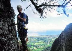 Rock Climbing Photo: Brian approaching the Belay on Pitch 2