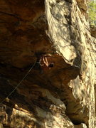 Rock Climbing Photo: Jeremy Steck, heading into the crux on Mind Bomb.