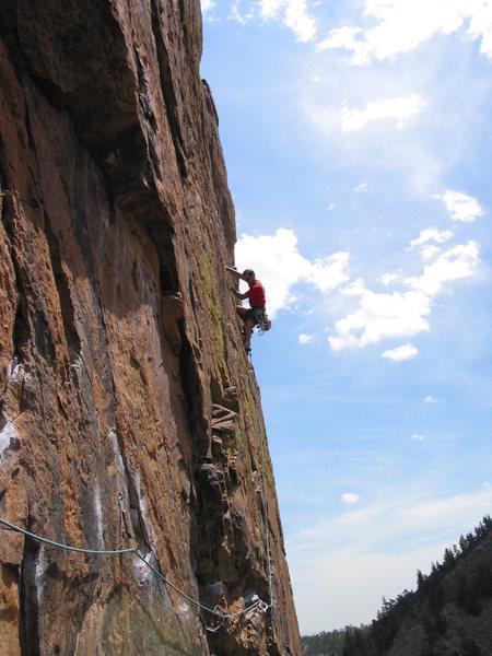 Rock Climbing Photo: Rosy Crucifixion