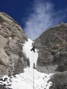 Rock Climbing Photo: !st Pitch of Main Vein......Floating on ice what y...