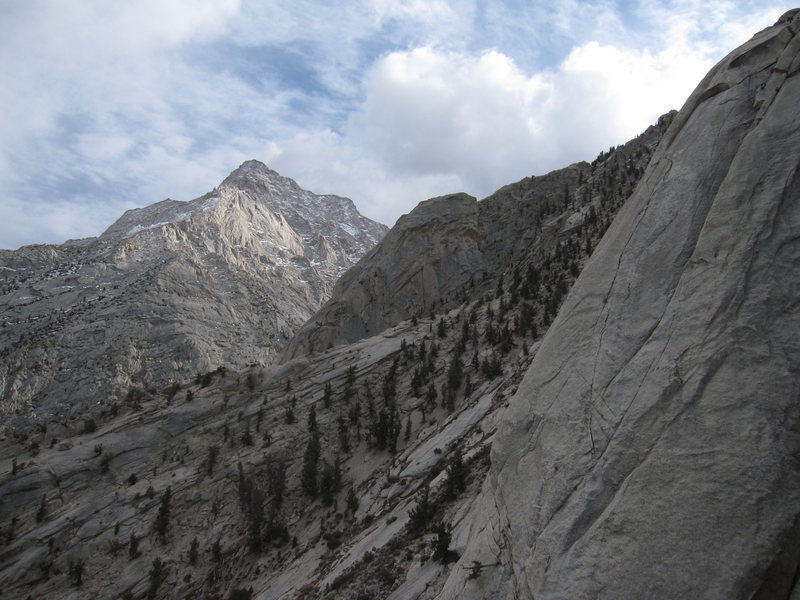 View looking south from halfway up the Candlelight Buttress.