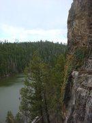 Rock Climbing Photo: On top of three star wall