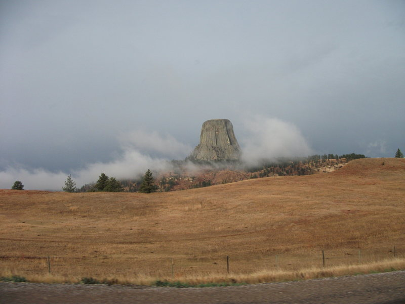 Rock Climbing Photo: Devils Tower on an overcast October morning.