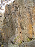 Rock Climbing Photo: Left side of tough cluster, rope is on 5.11a