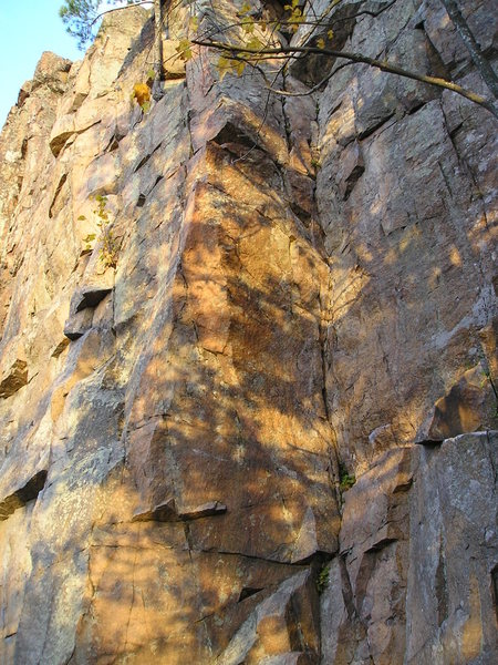 Rock Climbing Photo: Late fall sun light....
