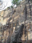Rock Climbing Photo: Route is center, tendency is to drift too far righ...