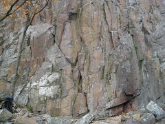 Rock Climbing Photo: Base of 5.10 cluster of area.5.10b starts just lef...