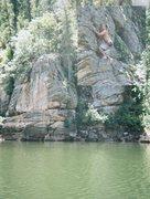 Rock Climbing Photo: Random deep water solo