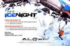 Rock Climbing Photo: 2010 Ice Night Poster