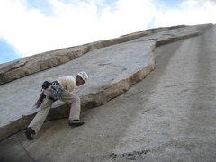 Rock Climbing Photo: Nathan Fitzhugh leading Right Flake.