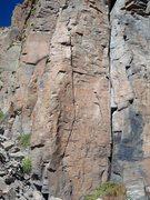 Rock Climbing Photo: A really fine line.