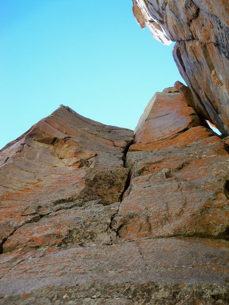 """Rock Climbing Photo: Upper section of """"Diverging Evolution."""""""