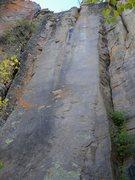 Rock Climbing Photo: Very difficult face/crack.