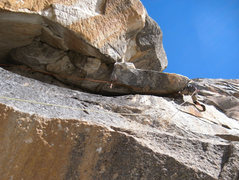 "Rock Climbing Photo: Andrew leads the ""big overhang"" pitch.  ..."