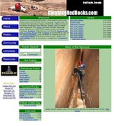 "Rock Climbing Photo: Screen shot of the home page for ""climbingred..."