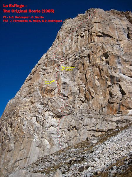 Rock Climbing Photo: The Original (1985) Route