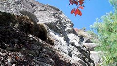 Rock Climbing Photo: Up the scramble (somewhere between 3rd class to 5....