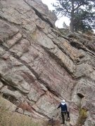 Rock Climbing Photo: Debbie at the base of Heva.