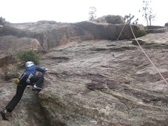 Rock Climbing Photo: Debbie on Uninspiring Wall.