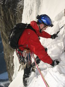 Rock Climbing Photo: Wes Bender getting ready to lead the last pitch.