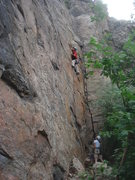 Rock Climbing Photo: Jerry Miller leading Panama Red.