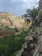 Rock Climbing Photo: Looking down the US 6, passing storm.
