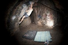 Rock Climbing Photo: The Heart Cave - V4
