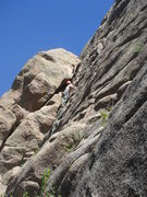 Rock Climbing Photo: Starting up Zendance.  Photo by Kimberly.