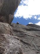 Rock Climbing Photo: Julie on Village Idiot.