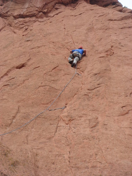 Rock Climbing Photo: Getting into the fun stuff on Trigger Finger.  Pho...