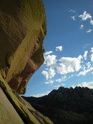 Rock Climbing Photo: a face?
