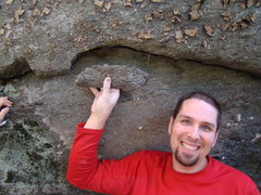 Rock Climbing Photo: This hold broke when I attempted the problem...
