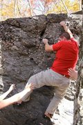 Rock Climbing Photo: Steve on the FA of Quartz Caterpillar