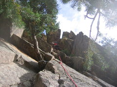 Rock Climbing Photo: Heather on Central Park/Larch combo.  Central Park...