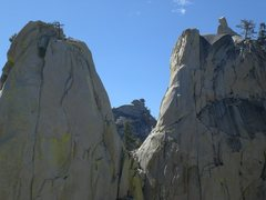Rock Climbing Photo: The Sorcerer, the Lookout, and the Charlatan from ...