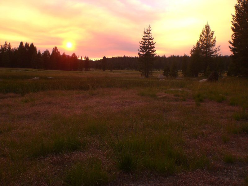 Rock Climbing Photo: sunset in the Meadows