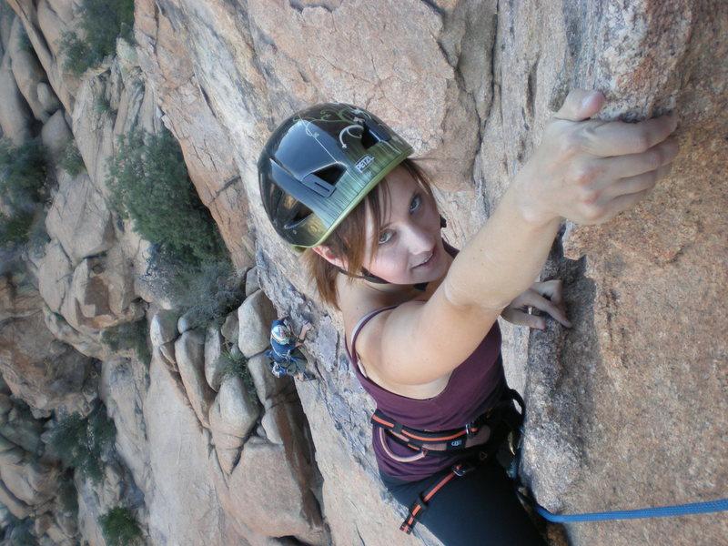 Rock Climbing Photo: Lauren cruising the 3rd pitch