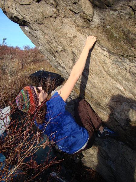 Rock Climbing Photo: Erica on the FA
