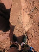 Rock Climbing Photo: On the summit looking down. It's like standing on ...
