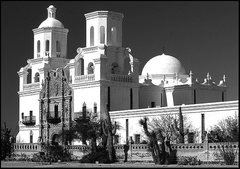 Rock Climbing Photo: San Xavier Mission, Tucson. Photo by Blitzo.