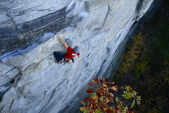 Rock Climbing Photo: Eric Singleton resting up for the crux.