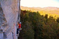 Rock Climbing Photo: Eric Singleton crimpin through the crux.