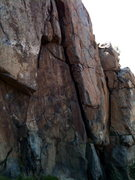 Rock Climbing Photo: looking back down @ Back to Basics from just in fr...