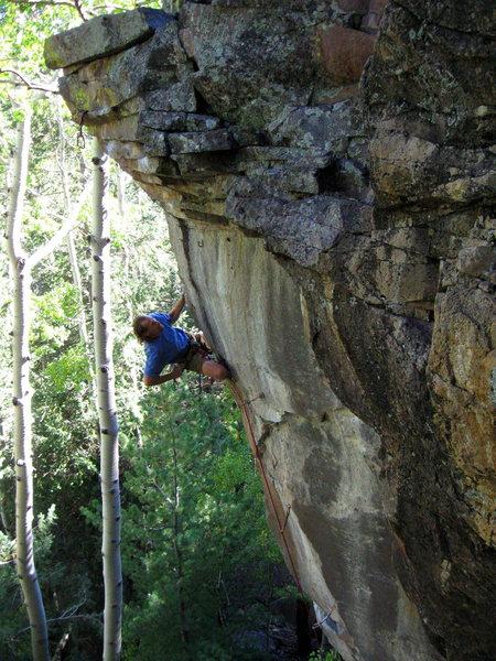 Rock Climbing Photo: Dan onsighting Chasing Dragons...