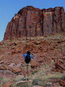 Rock Climbing Photo: Danny checking out Rimshot with the binocs.  Until...