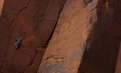 Rock Climbing Photo: Myself on Run Like Hell 5.10, The Wall, Indian Cre...