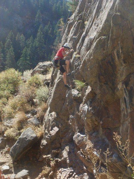 Rock Climbing Photo: Margherita climbing Pony Up.