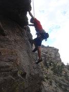 Rock Climbing Photo: Margherita on Passing Lane.